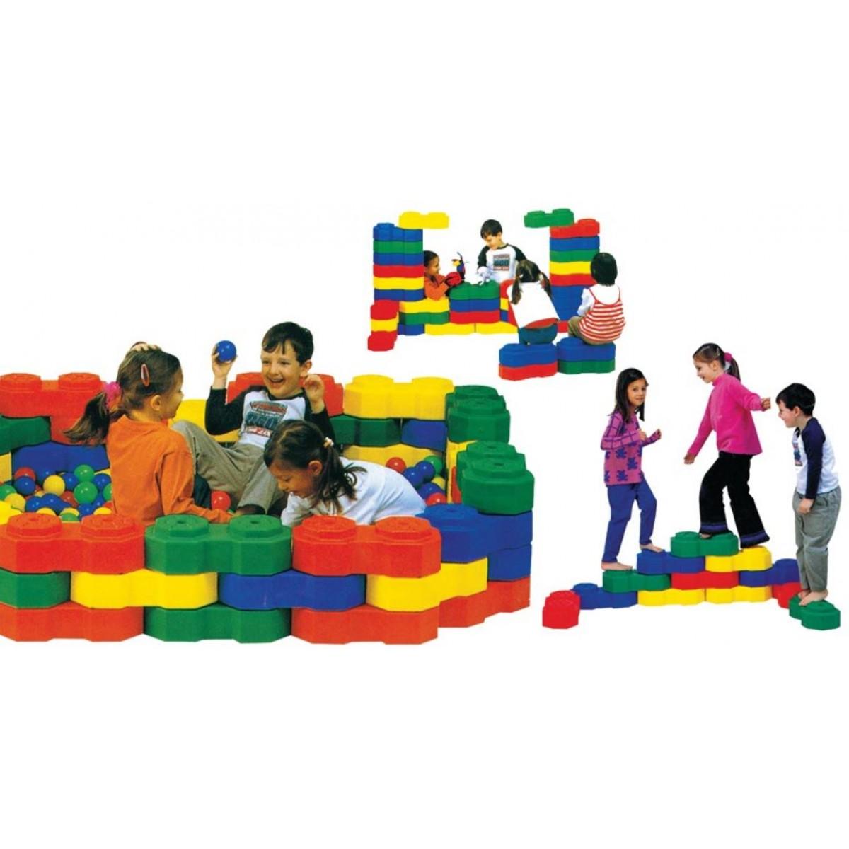 مكعبات بلاستيك كبيرة ثمانية الشكل 24 قطعة