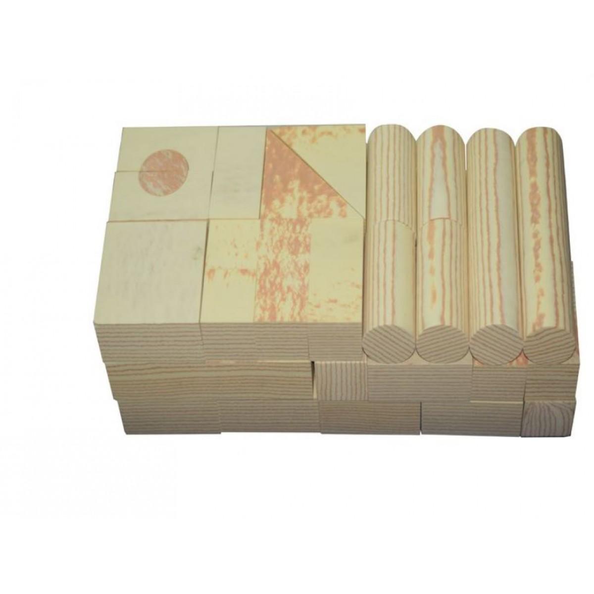 مكعبات فوم 48 قطعة لون خشبي