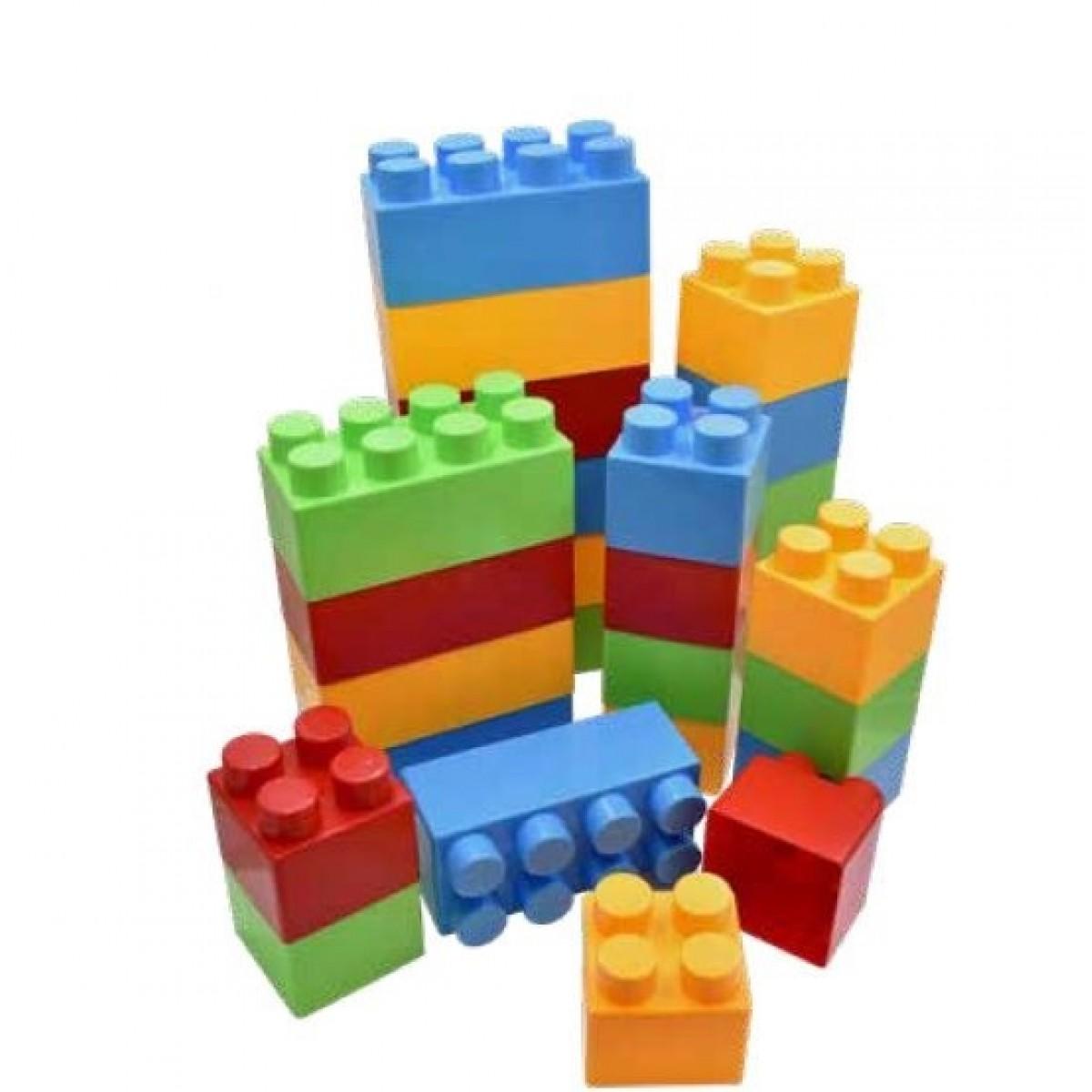 مكعبات فلين 60 قطعة 20 كبير 40 صغير غير قابل للكسر