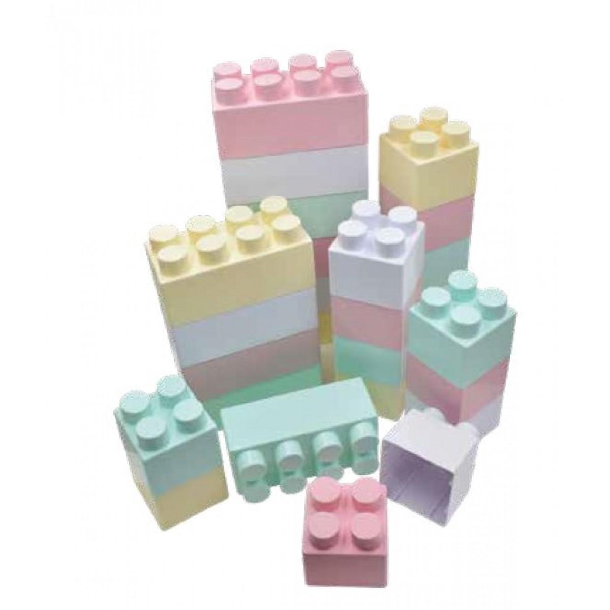مكعبات فلين الوان فاحة 60 قطعة 20 ق كبير + 40 صغير غير قابل للكسر
