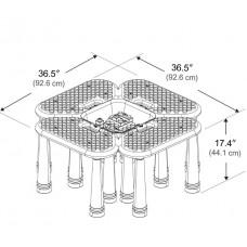 طاولات الأنشطة و المكعبات 42 قطعة مع تخزين