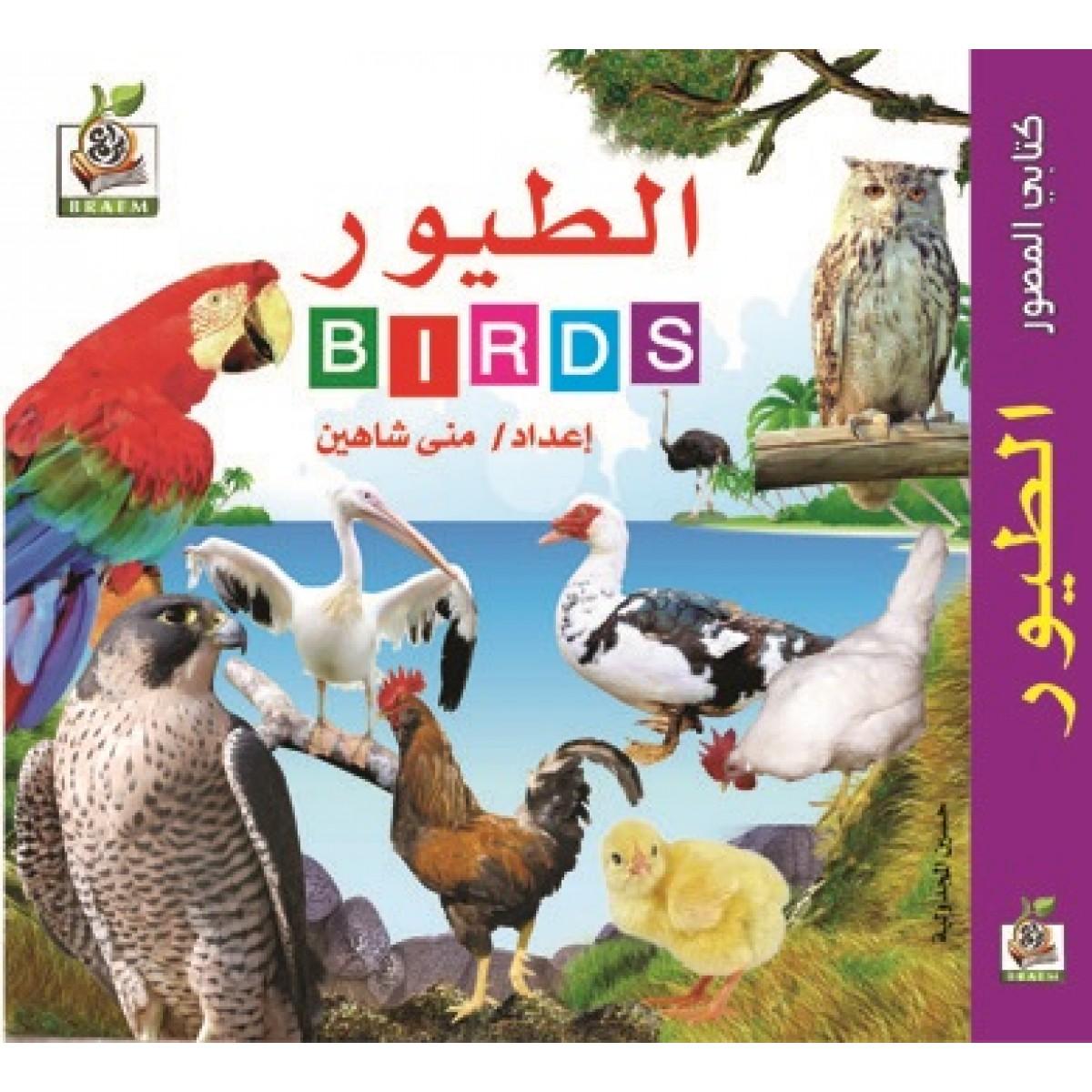 """كتابي المصور """" الطيور  """"، مقاس الكتاب 15*15 سم"""