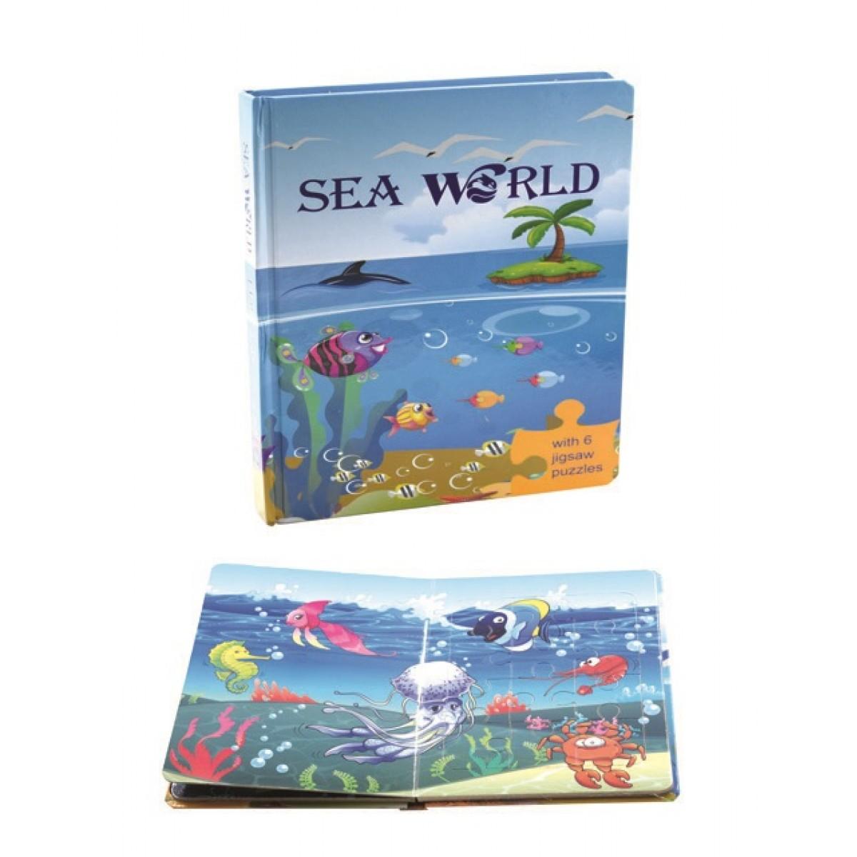 """كتاب بزل كرتوني  """" عالم البحار -SEA WORLD """""""