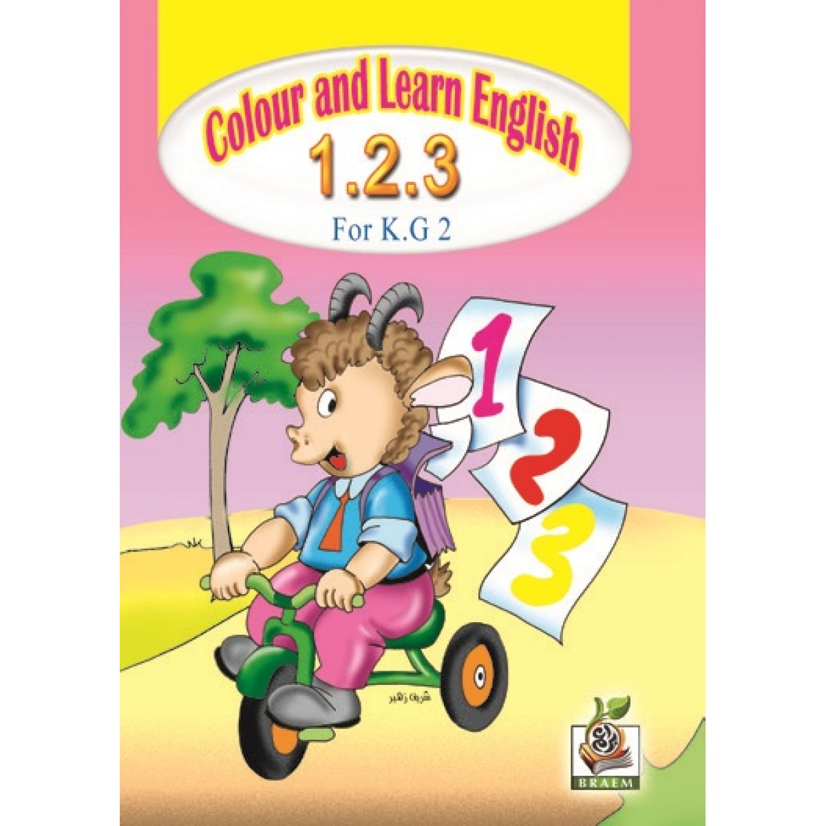 Colour and learn English 1.2.3 مستوى  K.G.2