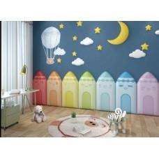 ديكور جداري للحماية أقلام كرايون 7 ألوان مختلفة