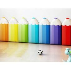 ديكور جداري للحماية أقلام التلوين 7 ألوان مختلفة