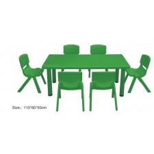طاولة بلاستيك مستطيلة مستوى واحد