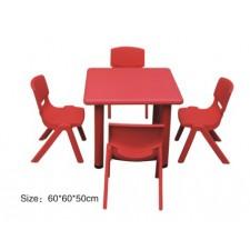 طاولة مربعة مستوى واحد بلاستيك