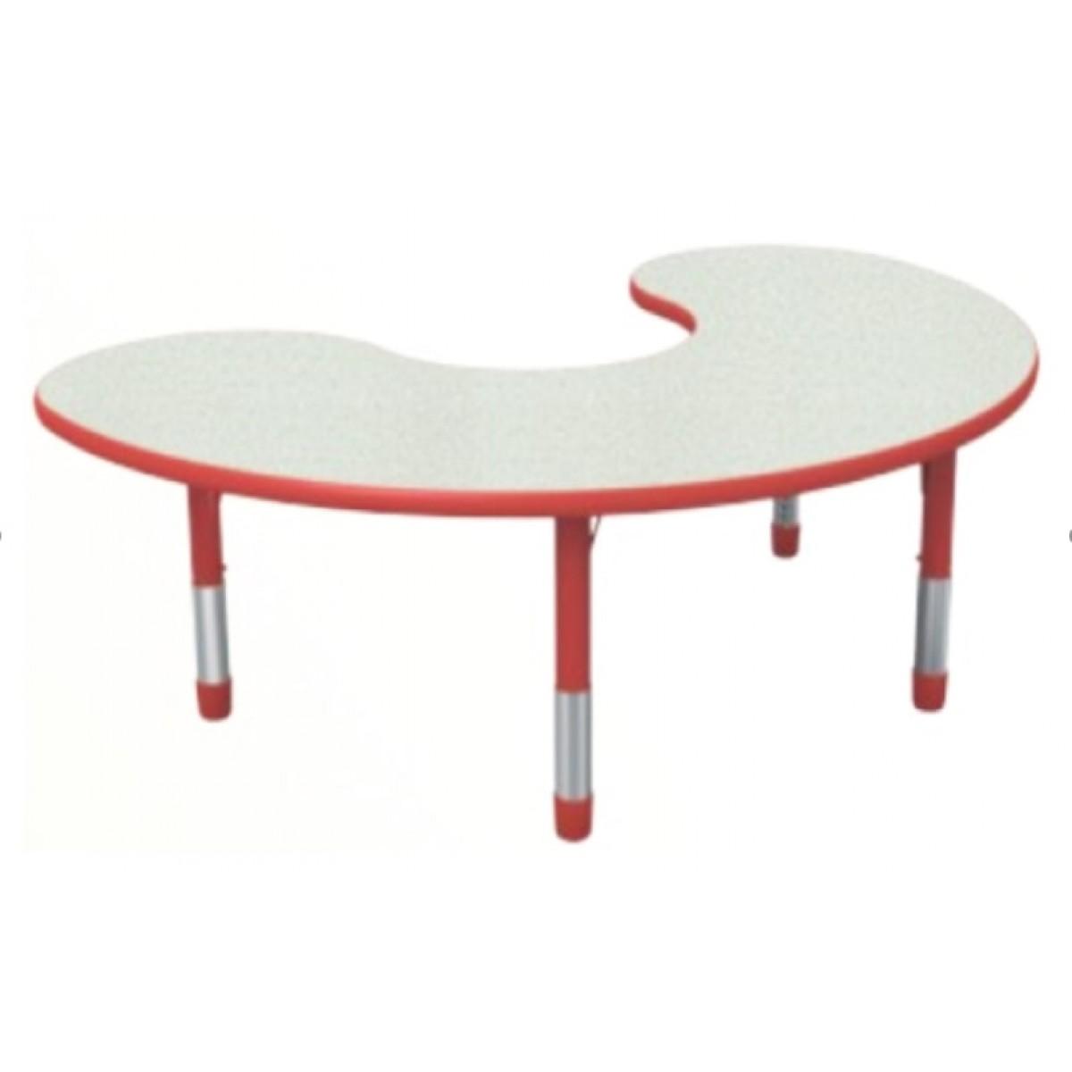 طاولة هلالية مموجه متعددة المستويات خشب 180*120*56-76 سم