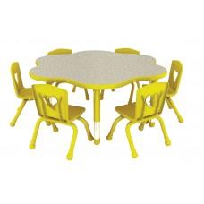طاولة دائرية  مموجة متعددة المستويات   90*90*56-76 سم