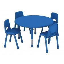 طاولة دائرية متعددة المستويات خشب 90*90*37-62سم
