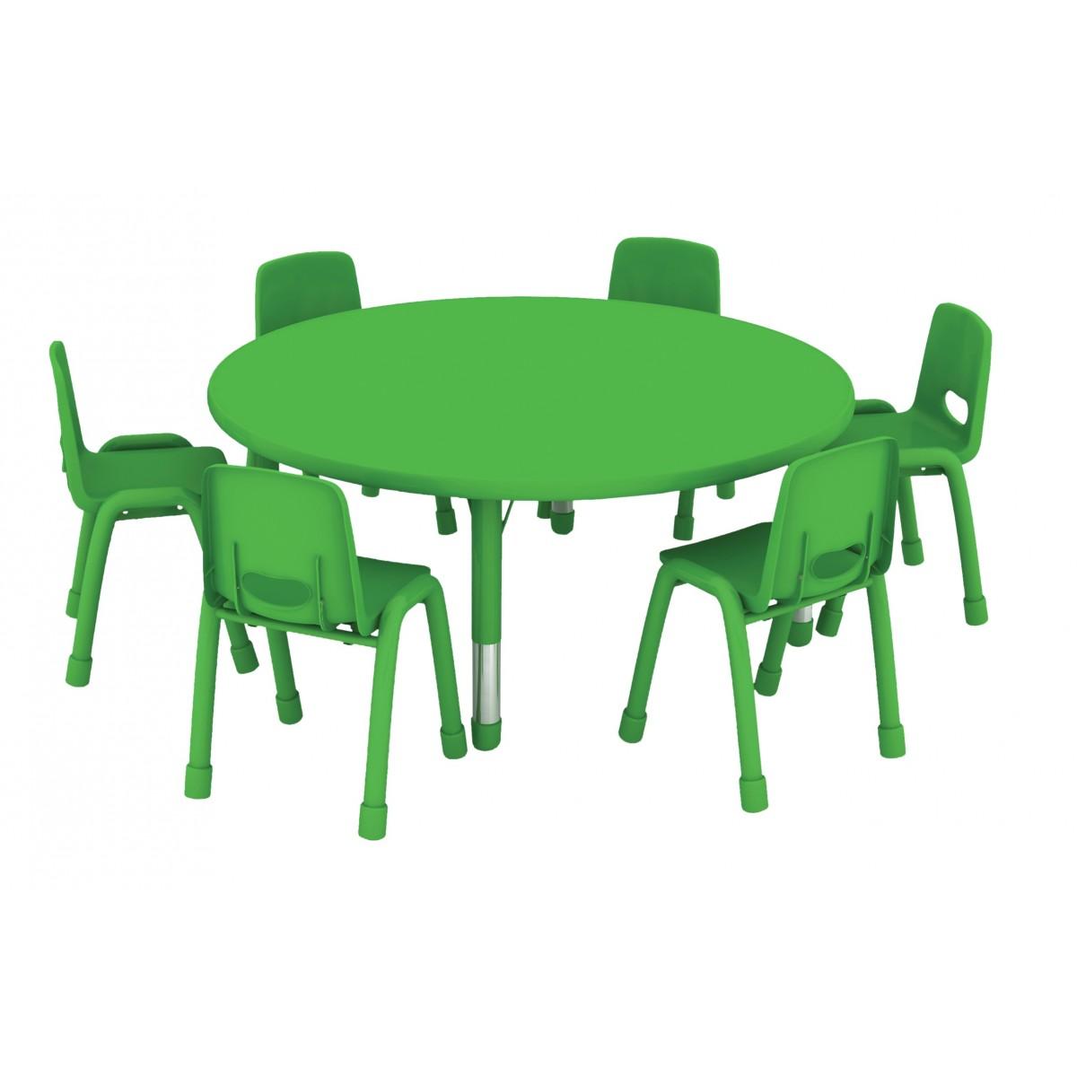 طاولة دائرية متعددة  المستويات خشب  120*120*37*62سم