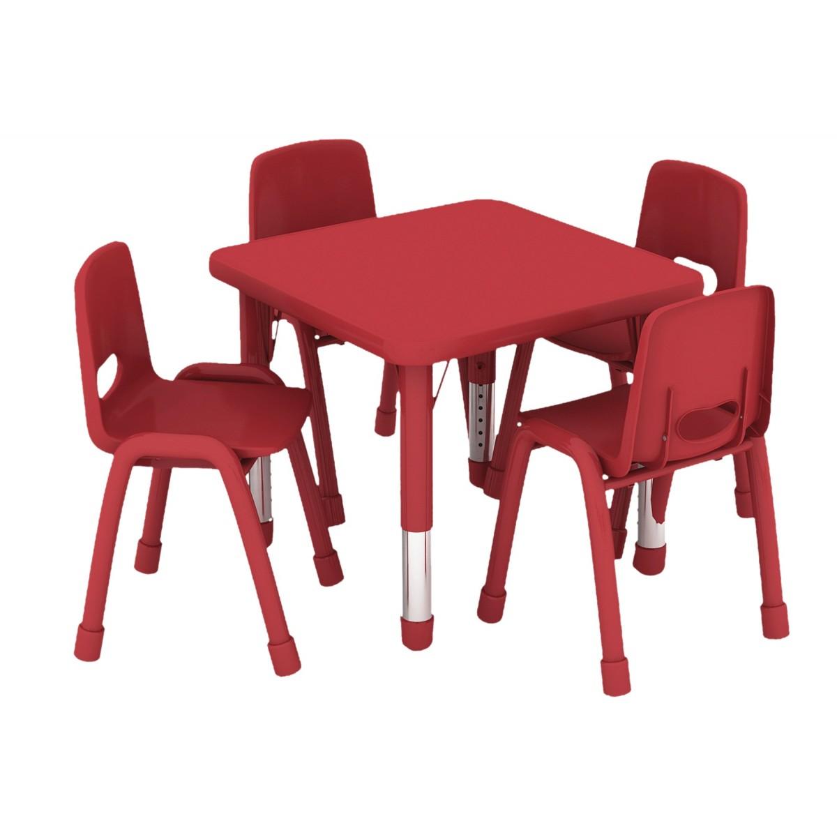 طاولة مربعة متعددة المستويات خشب  60*60*37-62 سم-دون الكراسي