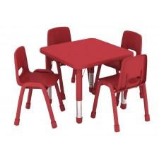 طاولة مربعة متعددة المستويات خشب  60*60*37-62 سم