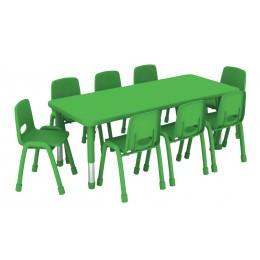 طاولة مستطيلة متعددة المستويات خشب  150*60*37-62 سم