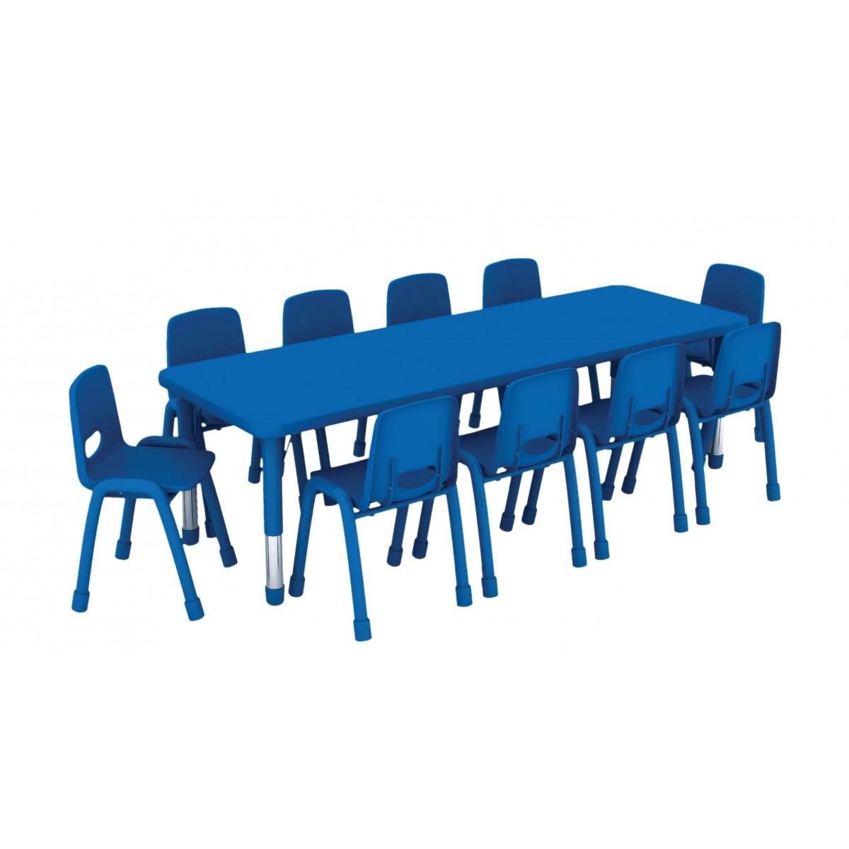 طاولة مستطيلة متعددة المستويات خشب  180*60*37-62 سم