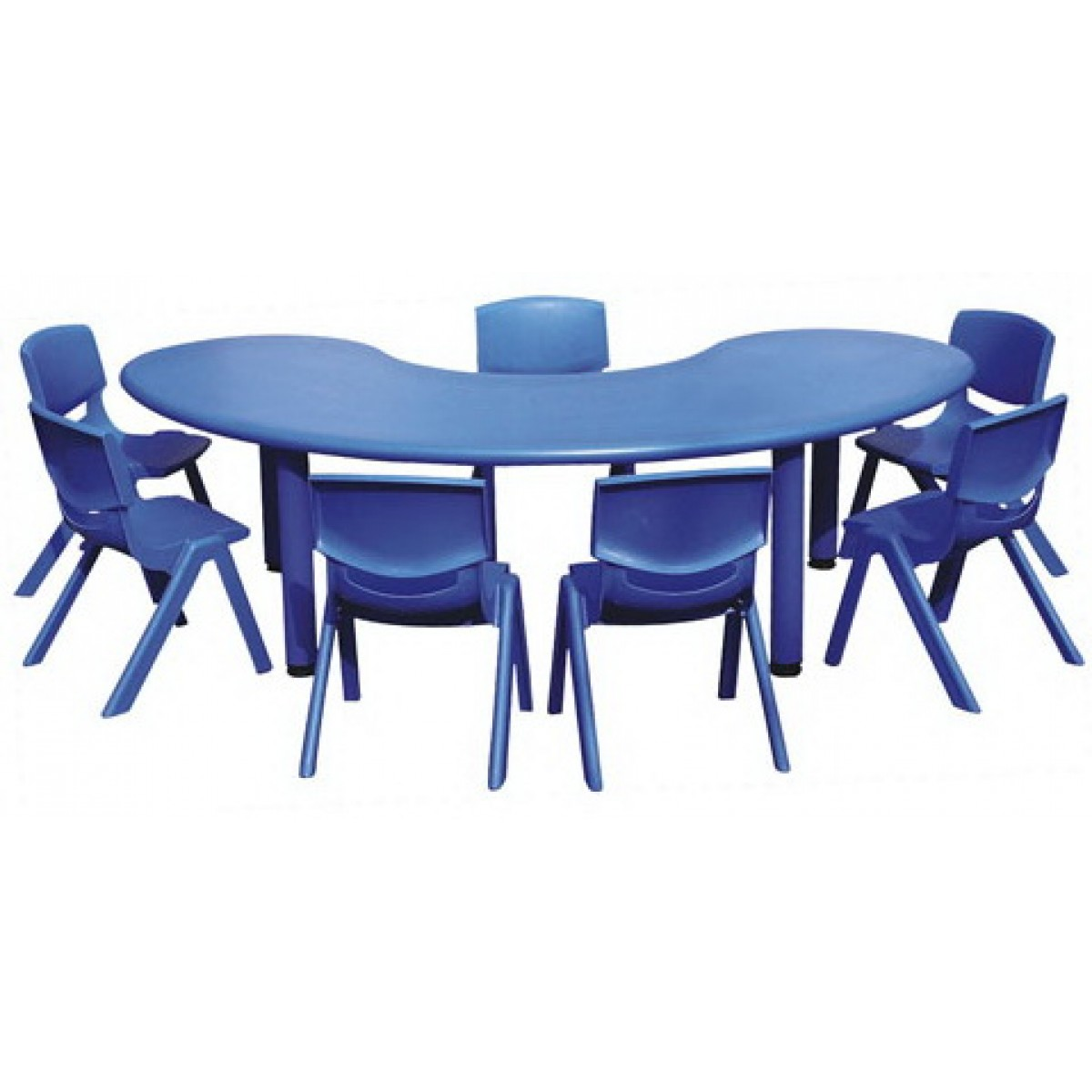 طاولة هلالية مستوى واحد بلاستيك