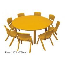 طاولة دائرية مستوى واحد بلاستيك